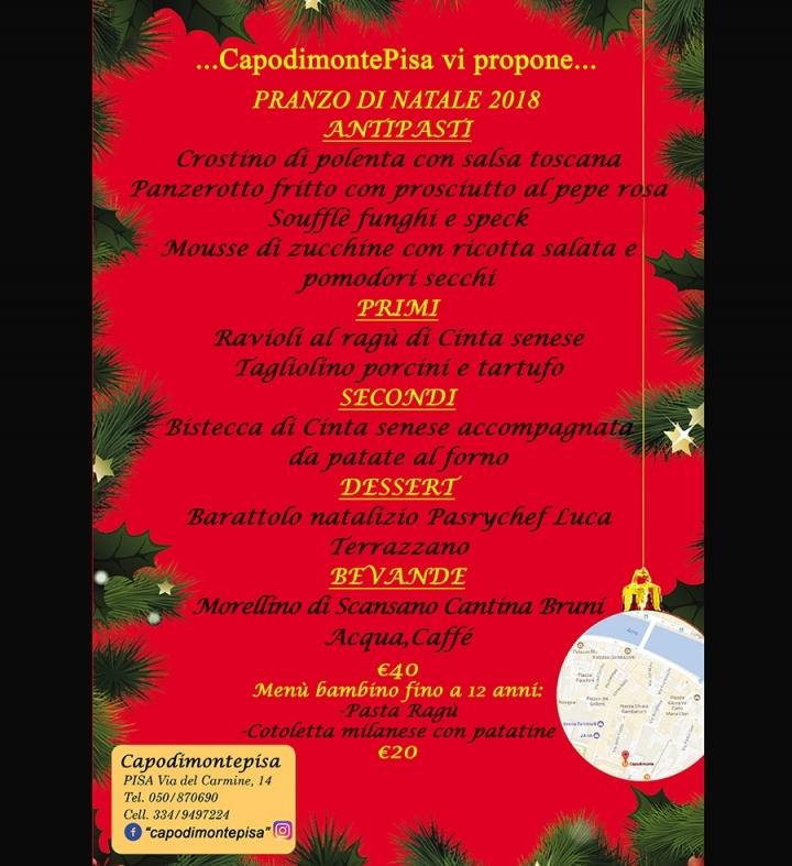Menu Di Natale Americano.Pranzo Di Natale Ristorante Ancora Capodimonte Pisa